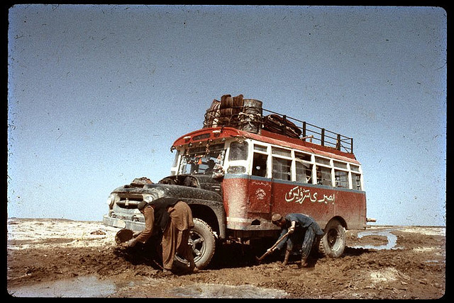 Stuck Bus near Farah